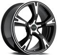 "product picture for: Svart Machined Foose RS Fälg 20x10"" (05-14)"